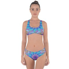 Fractal Curve Decor Twist Twirl Criss Cross Bikini Set