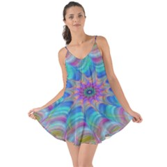 Fractal Curve Decor Twist Twirl Love The Sun Cover Up