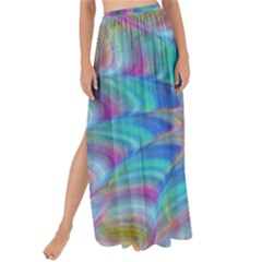 Fractal Curve Decor Twist Twirl Maxi Chiffon Tie Up Sarong