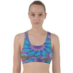 Fractal Curve Decor Twist Twirl Back Weave Sports Bra