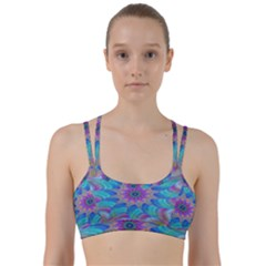Fractal Curve Decor Twist Twirl Line Them Up Sports Bra