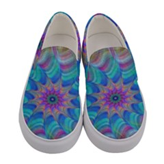 Fractal Curve Decor Twist Twirl Women s Canvas Slip Ons