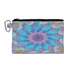 Fractal Curve Decor Twist Twirl Canvas Cosmetic Bag (medium)
