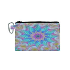 Fractal Curve Decor Twist Twirl Canvas Cosmetic Bag (small)