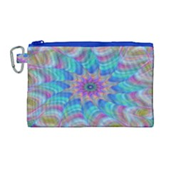 Fractal Curve Decor Twist Twirl Canvas Cosmetic Bag (large)