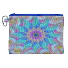 Fractal Curve Decor Twist Twirl Canvas Cosmetic Bag (xl)