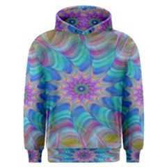 Fractal Curve Decor Twist Twirl Men s Overhead Hoodie