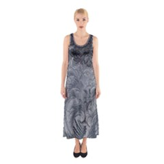 Abstract Art Decoration Design Sleeveless Maxi Dress