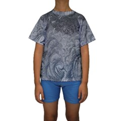 Abstract Art Decoration Design Kids  Short Sleeve Swimwear