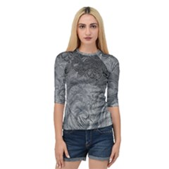 Abstract Art Decoration Design Quarter Sleeve Raglan Tee