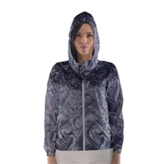Abstract Art Decoration Design Hooded Wind Breaker (women)