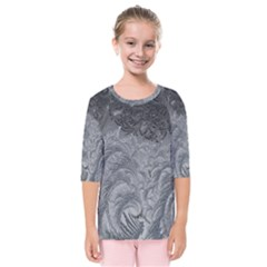 Abstract Art Decoration Design Kids  Quarter Sleeve Raglan Tee