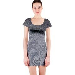Abstract Art Decoration Design Short Sleeve Bodycon Dress