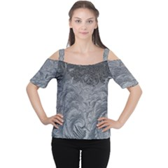 Abstract Art Decoration Design Cutout Shoulder Tee