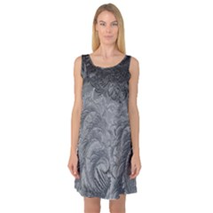 Abstract Art Decoration Design Sleeveless Satin Nightdress