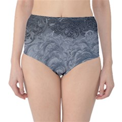 Abstract Art Decoration Design High Waist Bikini Bottoms