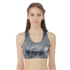 Abstract Art Decoration Design Sports Bra With Border