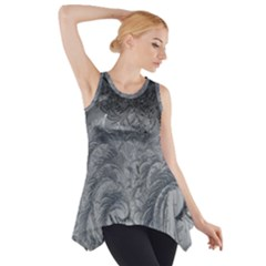 Abstract Art Decoration Design Side Drop Tank Tunic