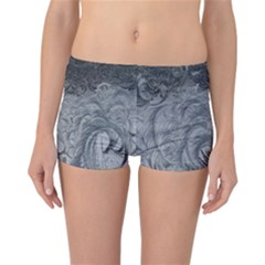 Abstract Art Decoration Design Reversible Boyleg Bikini Bottoms