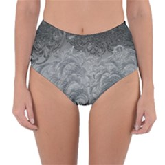 Abstract Art Decoration Design Reversible High Waist Bikini Bottoms