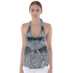 Abstract Art Decoration Design Babydoll Tankini Top