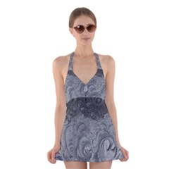 Abstract Art Decoration Design Halter Dress Swimsuit