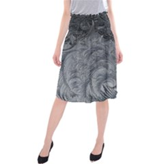 Abstract Art Decoration Design Midi Beach Skirt