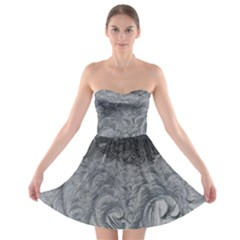 Abstract Art Decoration Design Strapless Bra Top Dress