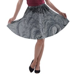 Abstract Art Decoration Design A Line Skater Skirt