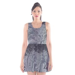 Abstract Art Decoration Design Scoop Neck Skater Dress