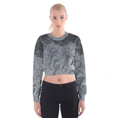 Abstract Art Decoration Design Cropped Sweatshirt