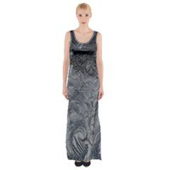 Abstract Art Decoration Design Maxi Thigh Split Dress