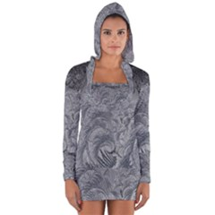 Abstract Art Decoration Design Long Sleeve Hooded T Shirt