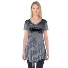 Abstract Art Decoration Design Short Sleeve Tunic
