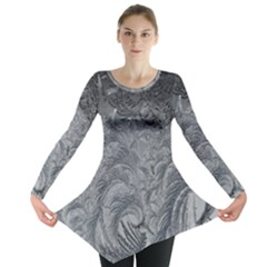 Abstract Art Decoration Design Long Sleeve Tunic