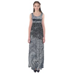 Abstract Art Decoration Design Empire Waist Maxi Dress