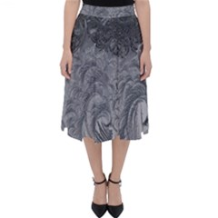 Abstract Art Decoration Design Folding Skater Skirt