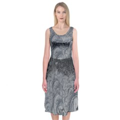 Abstract Art Decoration Design Midi Sleeveless Dress