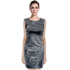 Abstract Art Decoration Design Classic Sleeveless Midi Dress