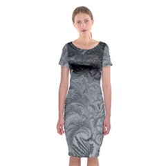 Abstract Art Decoration Design Classic Short Sleeve Midi Dress