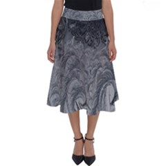 Abstract Art Decoration Design Perfect Length Midi Skirt