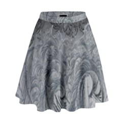 Abstract Art Decoration Design High Waist Skirt