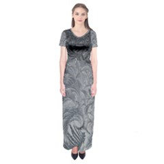 Abstract Art Decoration Design Short Sleeve Maxi Dress