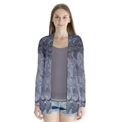 Abstract Art Decoration Design Drape Collar Cardigan
