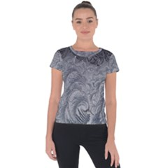 Abstract Art Decoration Design Short Sleeve Sports Top