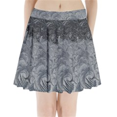 Abstract Art Decoration Design Pleated Mini Skirt