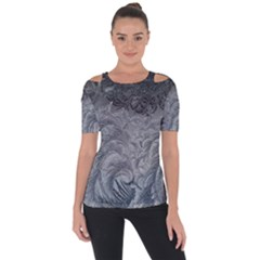 Abstract Art Decoration Design Short Sleeve Top