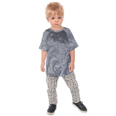 Abstract Art Decoration Design Kids Raglan Tee