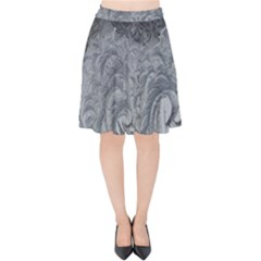 Abstract Art Decoration Design Velvet High Waist Skirt