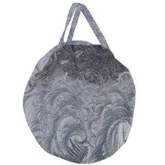 Abstract Art Decoration Design Giant Round Zipper Tote